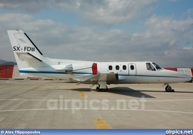 SX-FDB, Cessna 550 Citation II, Private