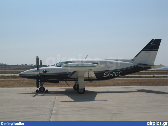 SX-FDC, Piper PA-31-T Cheyenne, Private