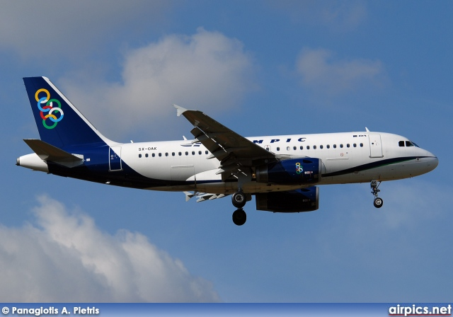 SX-OAK, Airbus A319-100, Olympic Air