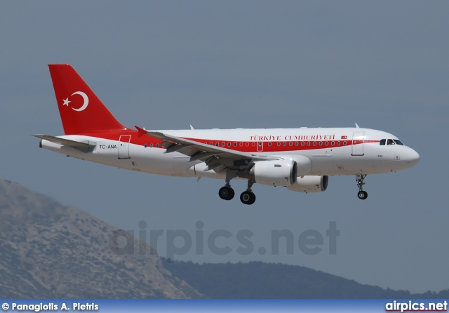 TC-ANA, Airbus A319-100CJ, Turkish Government