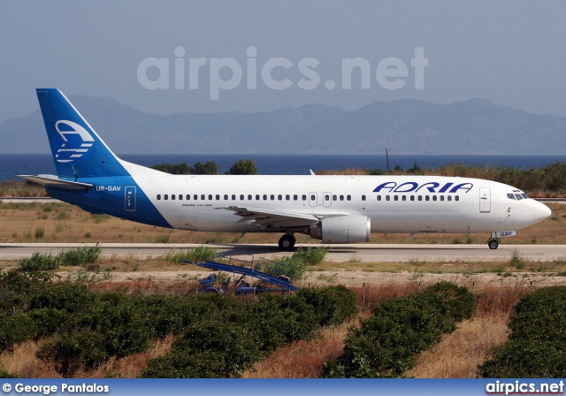 UR-GAV, Boeing 737-400, Adria Airways