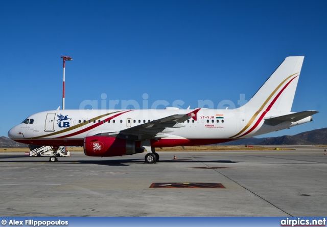 VT-VJM, Airbus A319-100CJ, Kingfisher Airlines