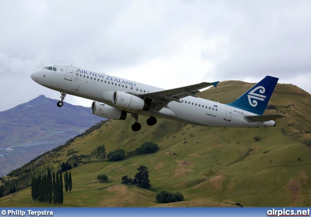 ZK-OJG, Airbus A320-200, Air New Zealand