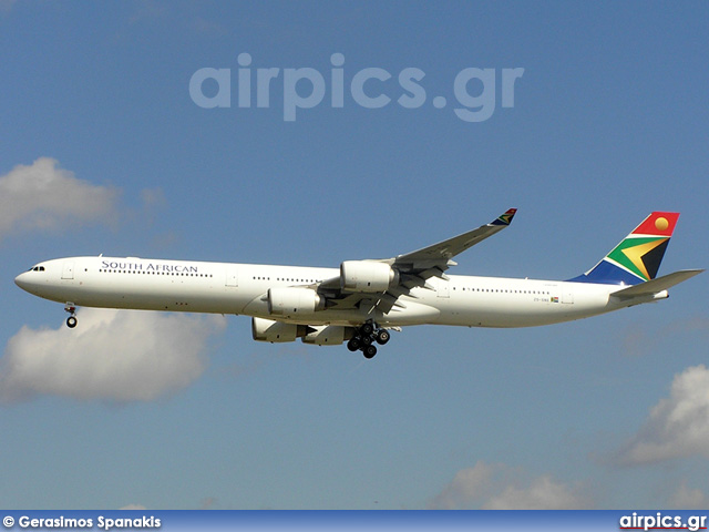 ZS-SNE, Airbus A340-600, South African Airways