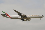 A6-ERG, Airbus A340-500, Emirates