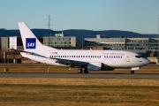 LN-BUD, Boeing 737-500, Scandinavian Airlines System (SAS)