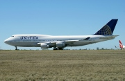 N128UA, Boeing 747-400, United Airlines