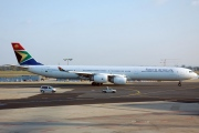 ZS-SNB, Airbus A340-600, South African Airways